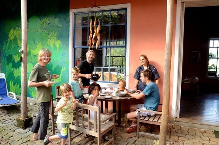 Kelly family with binka