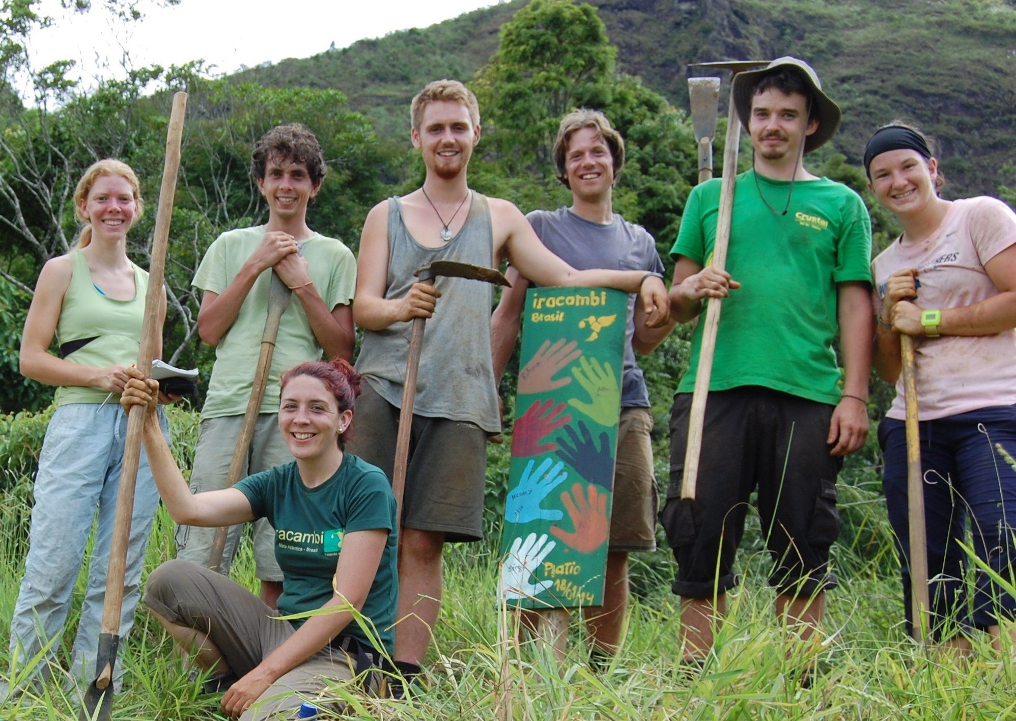 Iracambi volunteer planters protecting environment in Forest for water project